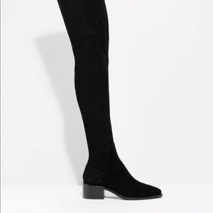 Real suede over the knee boots